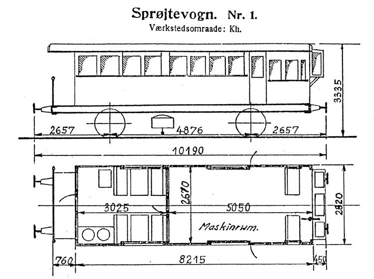 DSB Sprøjtevogn (ukrudt) nr. 1