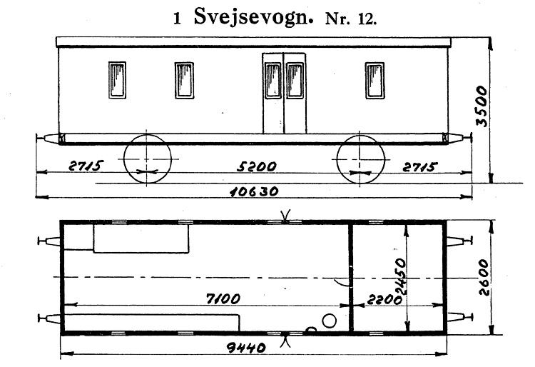 DSB Svejsevogn nr. 12
