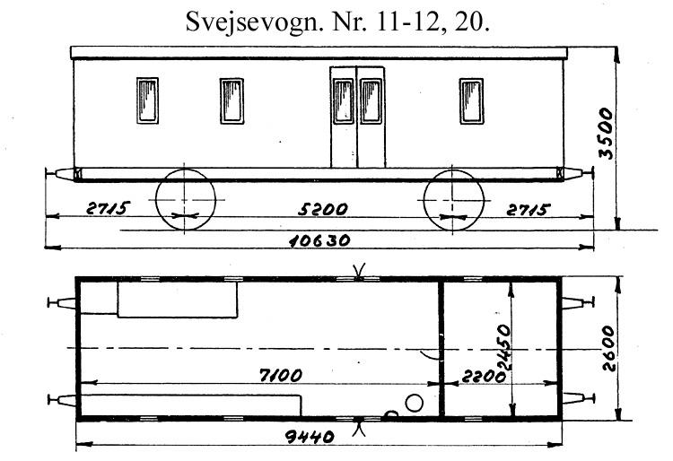 DSB Svejsevogn nr. 20
