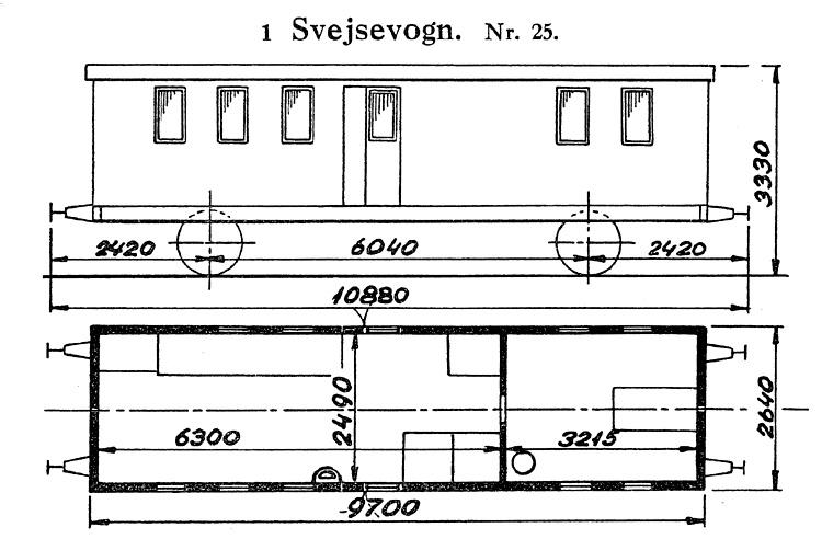 DSB Svejsevogn nr. 25
