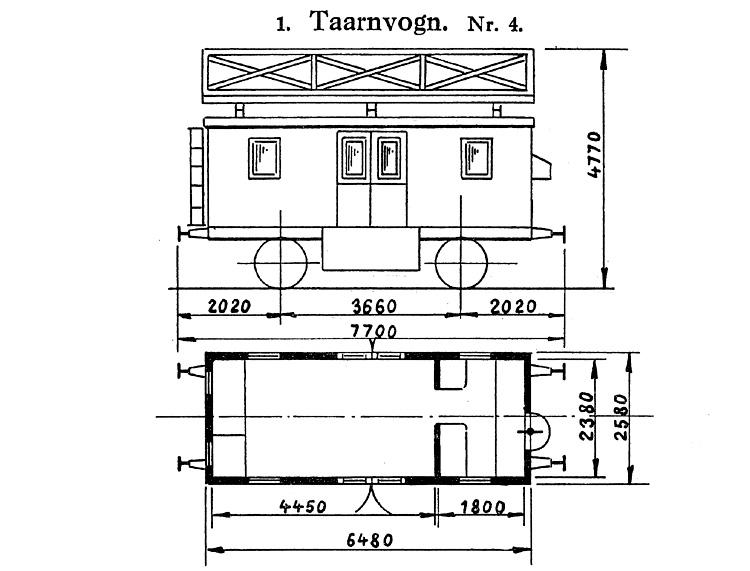 DSB Tårnvogn nr. 4