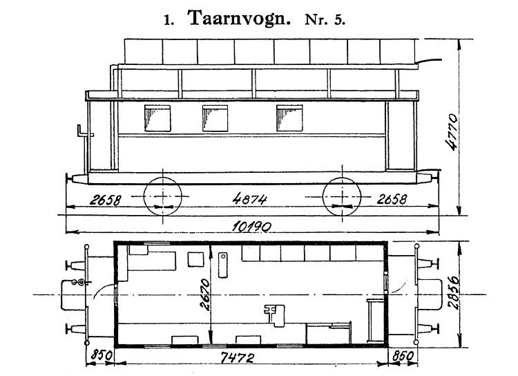 DSB Tårnvogn nr. 5