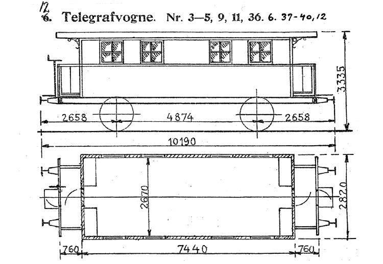 DSB Telegrafvogn nr. 12