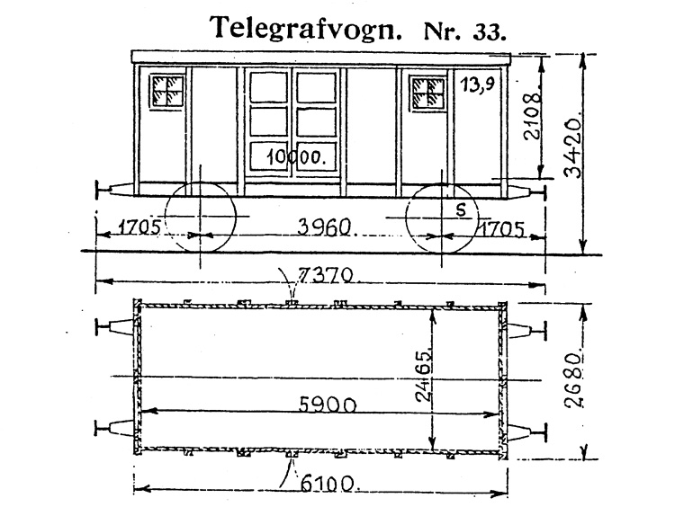 DSB Telegrafvogn nr. 33