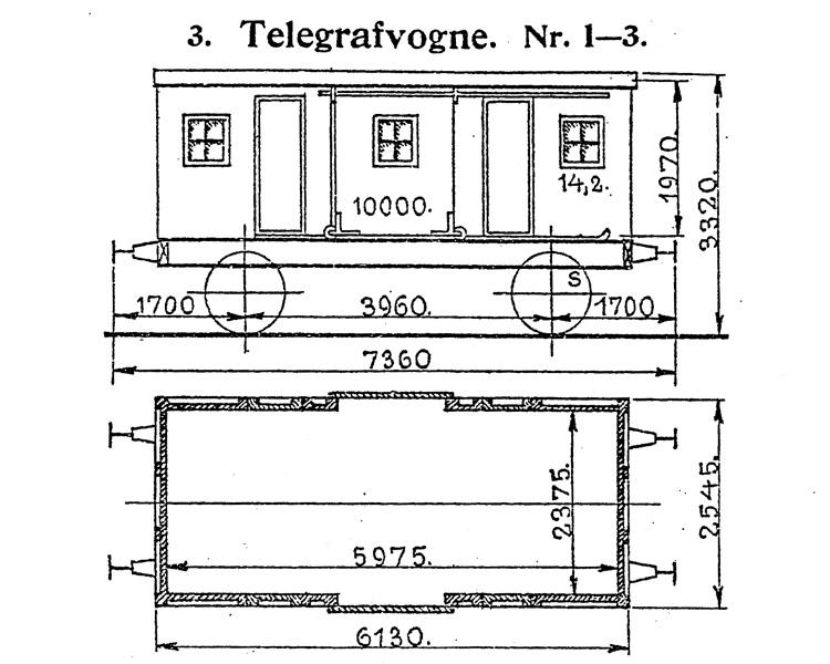 DSB Telegrafvogn nr. 3