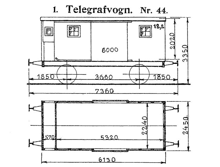 DSB Telegrafvogn nr. 44