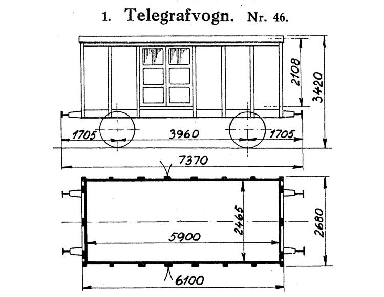 DSB Telegrafvogn nr. 46