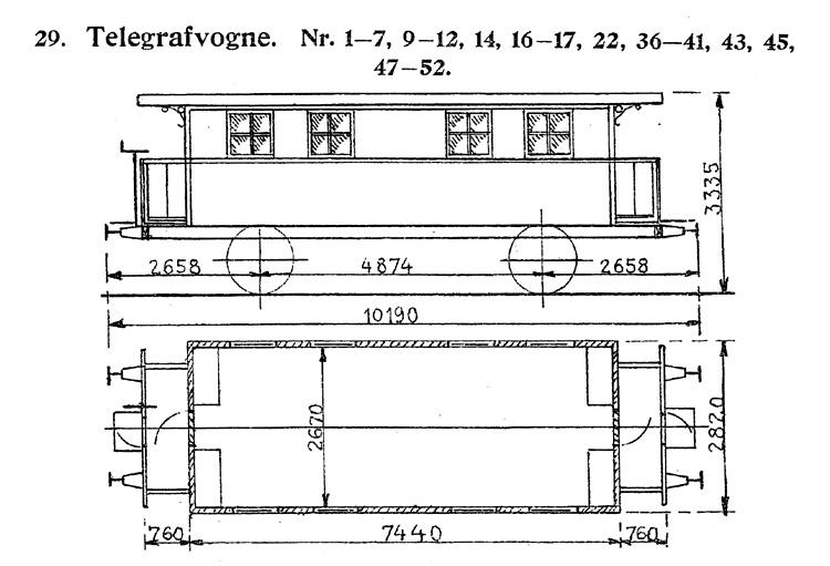 DSB Telegrafvogn nr. 52