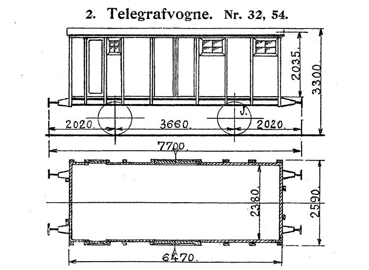 DSB Telegrafvogn nr. 54