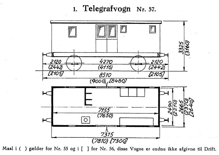 DSB Telegrafvogn nr. 57