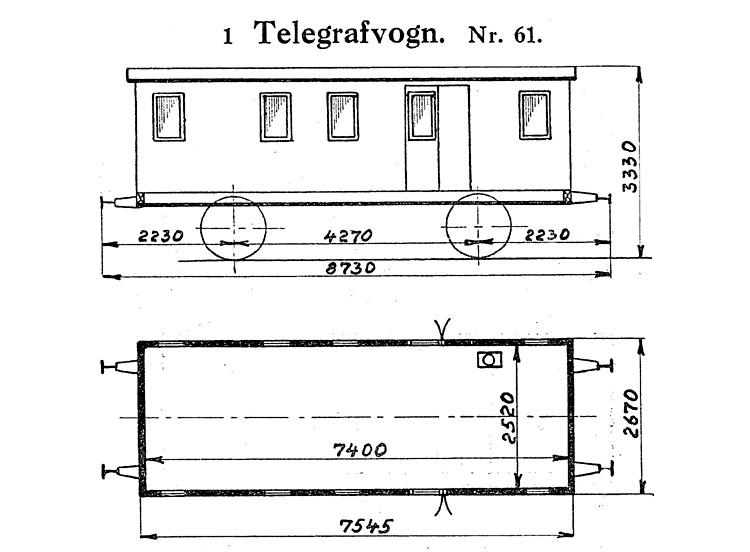 DSB Telegrafvogn nr. 61