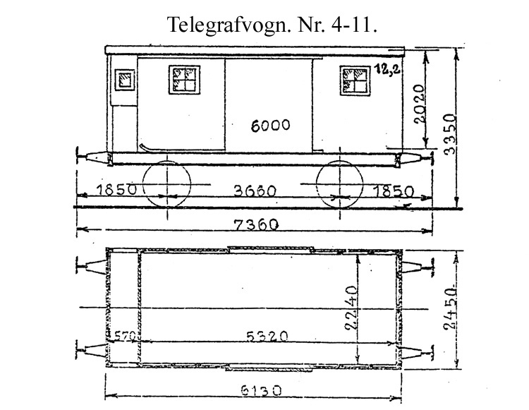 DSB Telegrafvogn nr. 8
