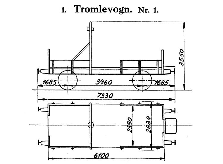 DSB Tromlevogn for Køreledningstilsynet nr. 1
