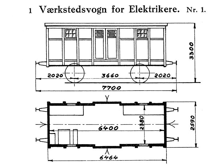 DSB Værkstedsvogn for Elektrikere nr. 1