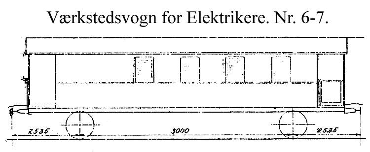 DSB Værkstedsvogn for Elektrikere nr. 7