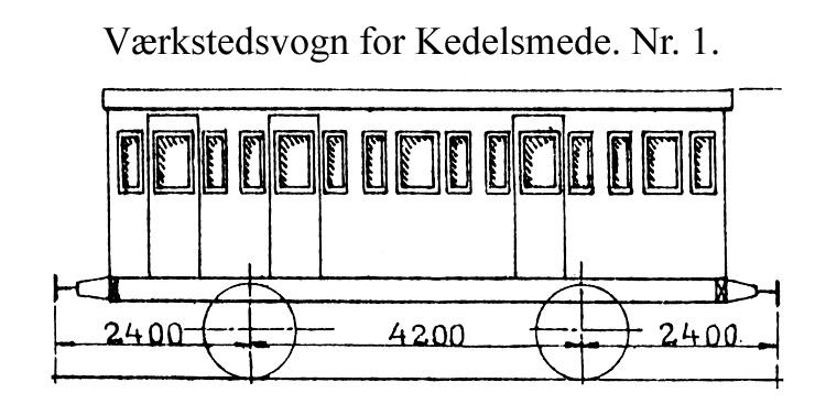 DSB Værkstedsvogn for Kedelsmede nr. 1