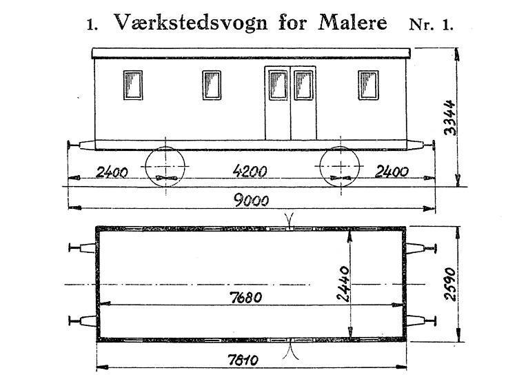 DSB Værkstedsvogn for Malere nr. 1