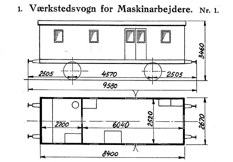 DSB Værkstedsvogn for Maskinarbejdere nr. 1