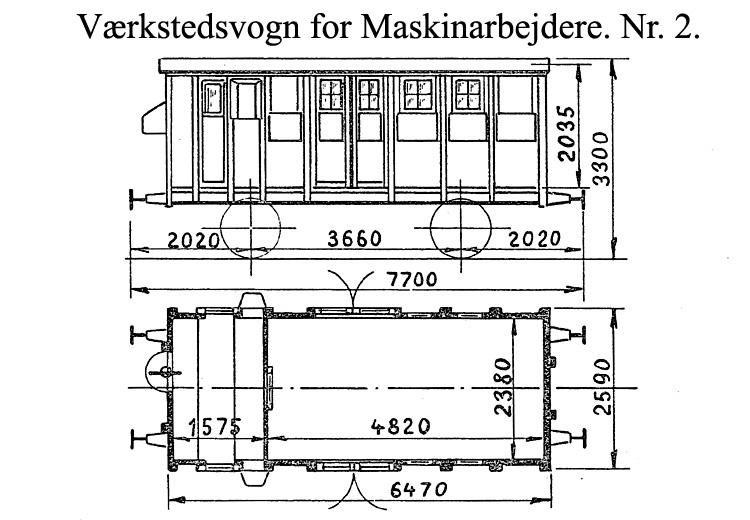 DSB Værkstedsvogn for Maskinarbejdere nr. 2