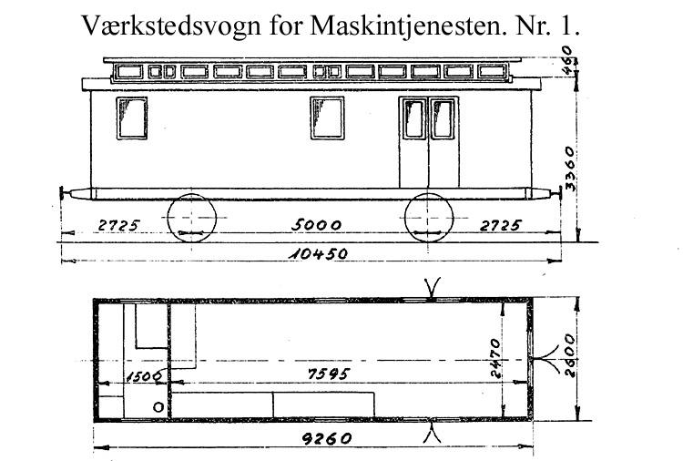 DSB Værkstedsvogn for Maskintjenesten nr. 1