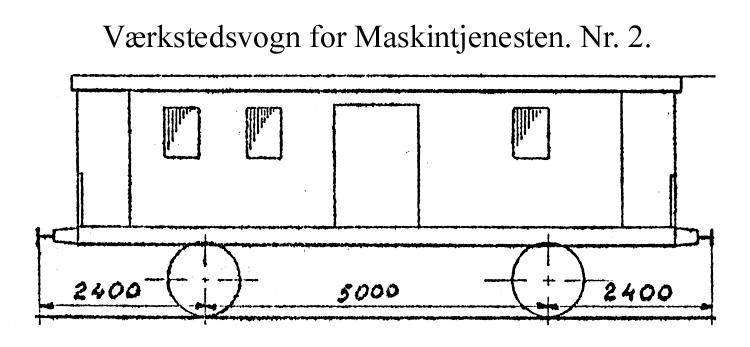 DSB Værkstedsvogn for Maskintjenesten nr. 2