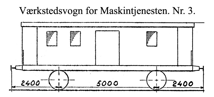 DSB Værkstedsvogn for Maskintjenesten nr. 3