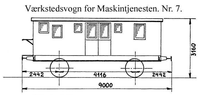 DSB Værkstedsvogn for Maskintjenesten nr. 7