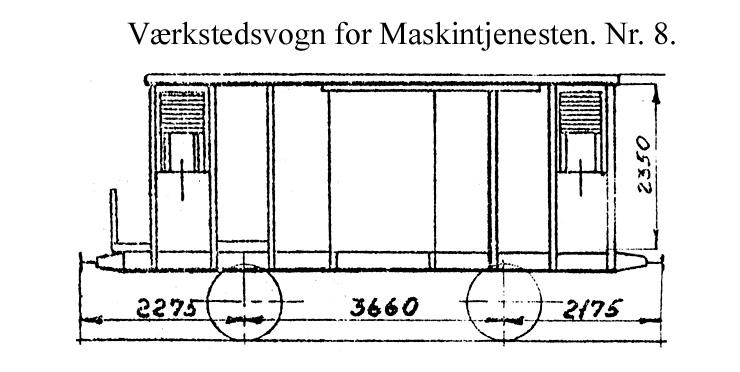 DSB Værkstedsvogn for Maskintjenesten nr. 8