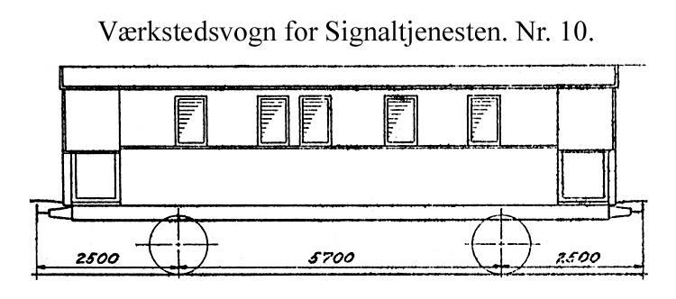 DSB Værkstedsvogn for Signaltjenesten nr. 10