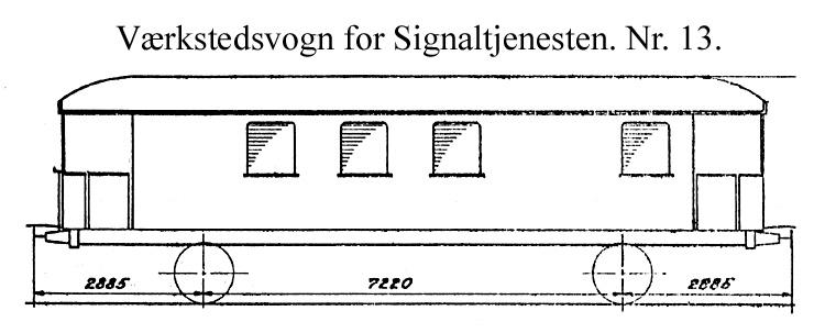 DSB Værkstedsvogn for Signaltjenesten nr. 13