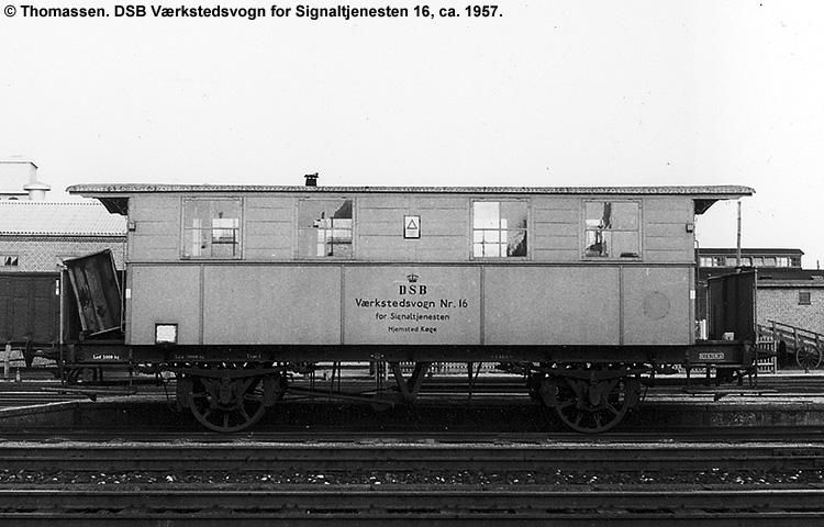 DSB Værkstedsvogn for Signaltjenesten nr. 16