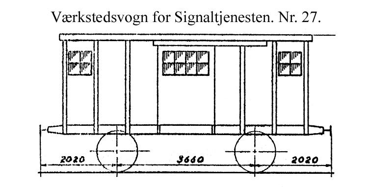 DSB Værkstedsvogn for Signaltjenesten nr. 27