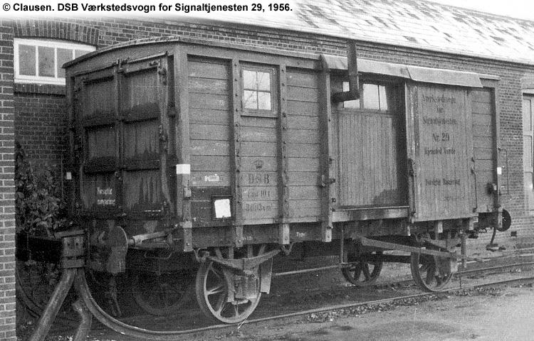 DSB Værkstedsvogn for Signaltjenesten nr. 29