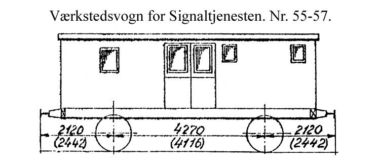 DSB Værkstedsvogn for Signaltjenesten nr. 56