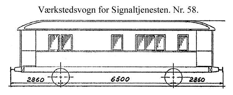 DSB Værkstedsvogn for Signaltjenesten nr. 58