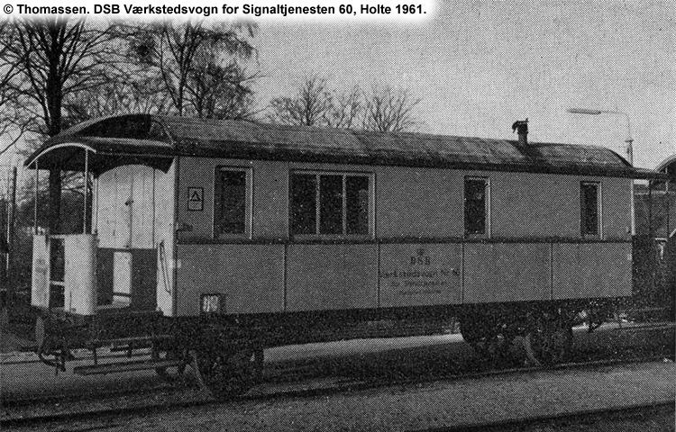 DSB Værkstedsvogn for Signaltjenesten nr. 60