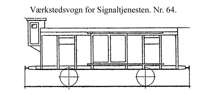 DSB Værkstedsvogn for Signaltjenesten nr. 64