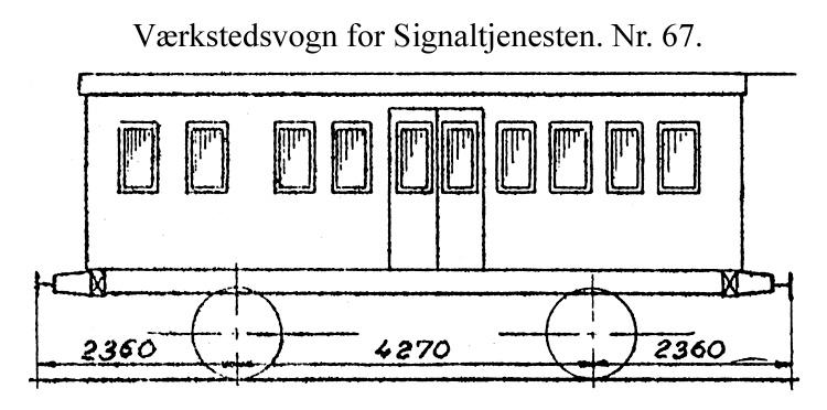 DSB Værkstedsvogn for Signaltjenesten nr. 67