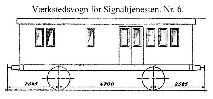 DSB Værkstedsvogn for Signaltjenesten nr. 6