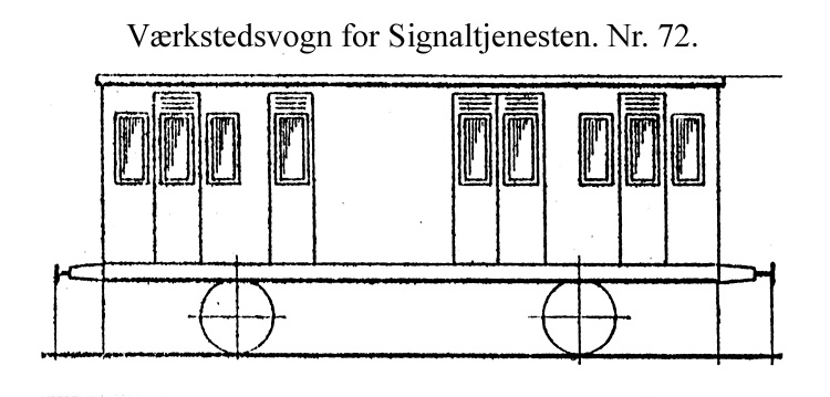 DSB Værkstedsvogn for Signaltjenesten nr. 72