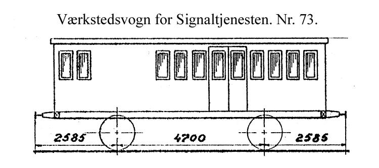 DSB Værkstedsvogn for Signaltjenesten nr. 73