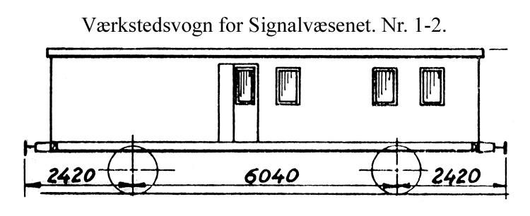 DSB Værkstedsvogn for Signalvæsenet nr. 1