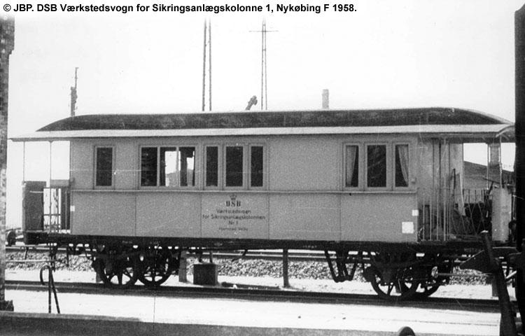DSB Værkstedsvogn for Sikringsanlægskolonne nr. 1
