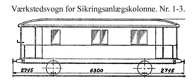 DSB Værkstedsvogn for Sikringsanlægskolonne nr. 3