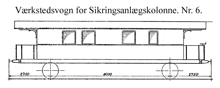 DSB Værkstedsvogn for Sikringsanlægskolonne nr. 6