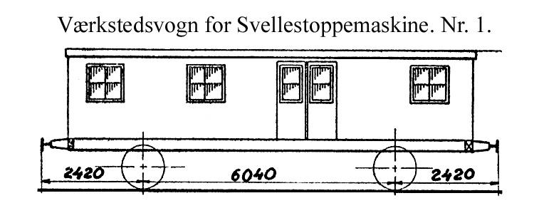 DSB Værkstedsvogn for Svellestoppemaskine nr. 1