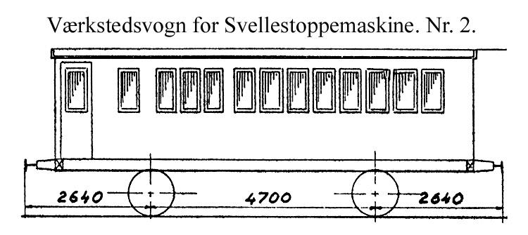 DSB Værkstedsvogn for Svellestoppemaskine nr. 2