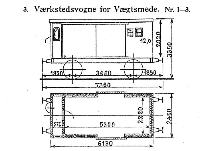 DSB Værkstedsvogn for Vægtsmede nr. 2