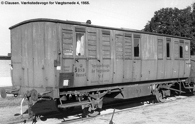 DSB Værkstedsvogn for Vægtsmede nr. 4