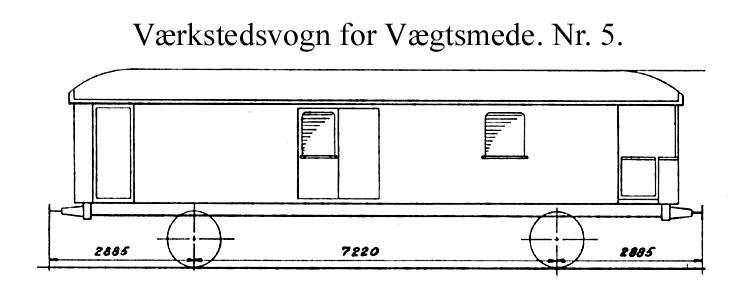 DSB Værkstedsvogn for Vægtsmede nr. 5